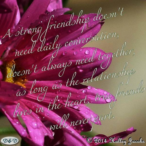 Holley Jacobs - A Strong Friendship