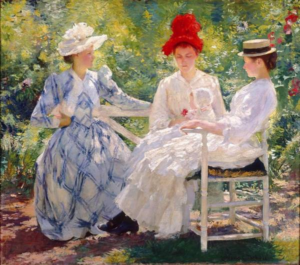 Wall Art - Painting -  A Study In June Sunlight by Edmund Charles