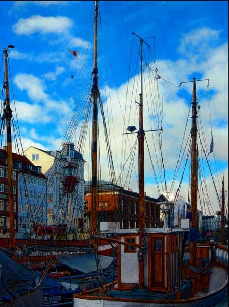 Kopenhagen Photograph - A Study In Masts by Dorothy Berry-Lound