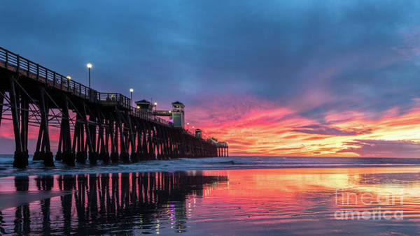 Photograph - A Stunning Sunset In Oceanside by David Levin