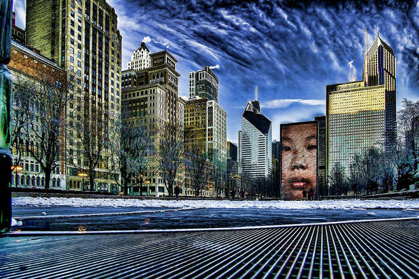 Photograph - A Stylized Look At Chicago's Crown Fountain In The Winter by Sven Brogren