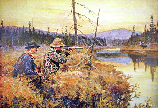 Painting - A Successful Call by Philip R Goodwin
