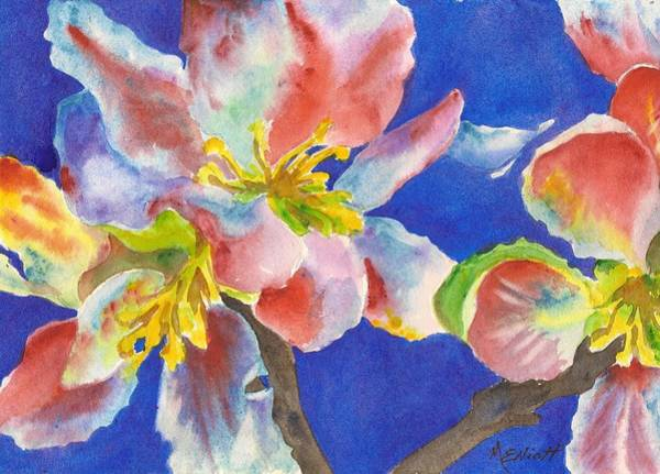 Dogwood Painting - A Sudden Burst Of Color by Marsha Elliott