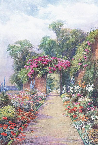 Gateway Painting - A Summer Evening, From The Gardens Of England by Lilian Stannard