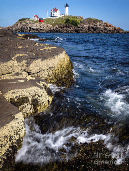 Photograph - A Summer's Day At Nubble Light, York, Maine  -67969 by John Bald