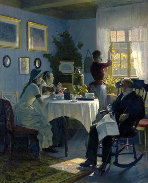 Sunday Afternoon Wall Art - Painting - A Sunday Afternoon by Carl Thomsen