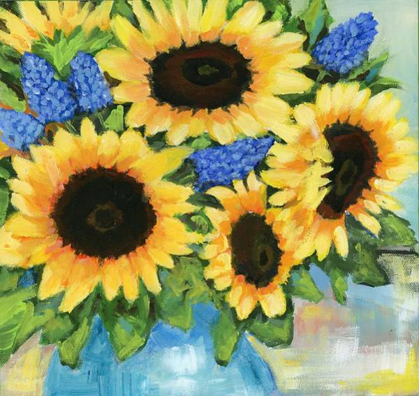 Painting -  A Sunny Arrangement by Debbie Brown