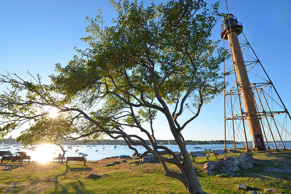 Photograph - A Sunny Marblehead Day At The Light Tower Chandler Hovey Park by Toby McGuire