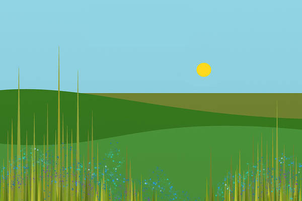 Digital Art - A Sunny Summer Day by Val Arie