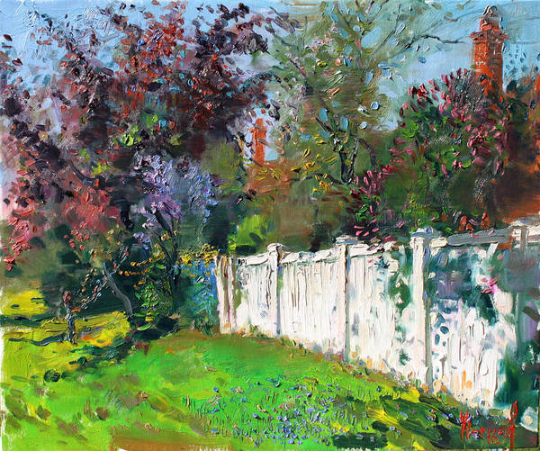 Fences Wall Art - Painting - A Sunny Sunday by Ylli Haruni