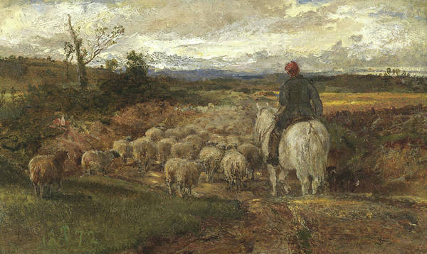 Wall Art - Painting - A Sussex Lane, 1872 by John Samuel Raven