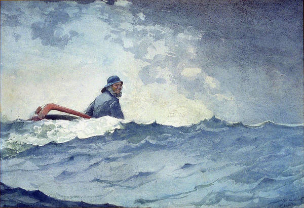 Painting - A Swell Of The Ocean By Winslow Homer 1883 by Movie Poster Prints