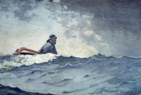 Painting - A Swell Of The Ocean by Winslow Homer