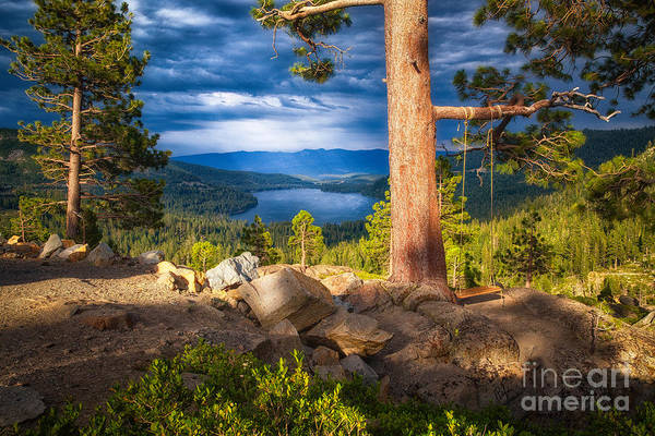 Donner Photograph - A Swing With A View by Anthony Bonafede