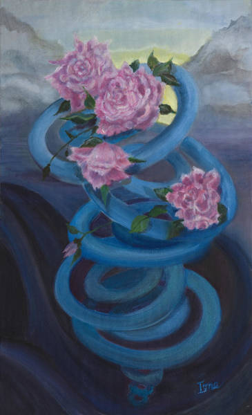 Ione Painting - A Swirl Of Roses by Ione Citrin
