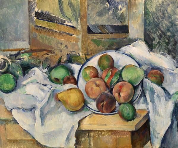 Apple Peel Wall Art - Painting - A Table Corner by Paul Cezanne