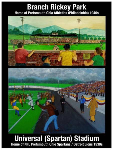 Painting - A Tale Of Two Stadiums by Frank Hunter