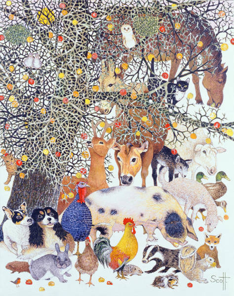 Forage Wall Art - Painting - A Tasty Treat by Pat Scott