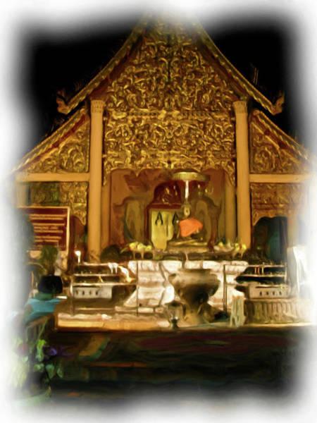 A Temple Night 2 Art Print