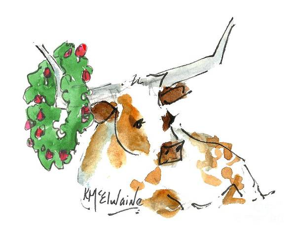 Painting - A Texas Welcome Christmas by Kathleen McElwaine
