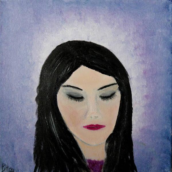 Painting - A Thoughtful Woman by Bernd Hau