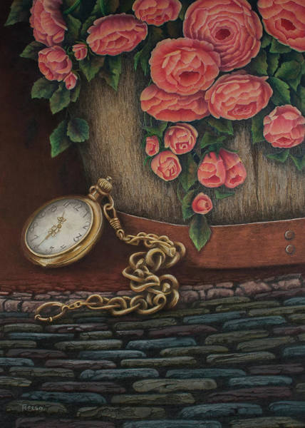 Rust Drawing - A Time Forgotten by Teresa Frazier