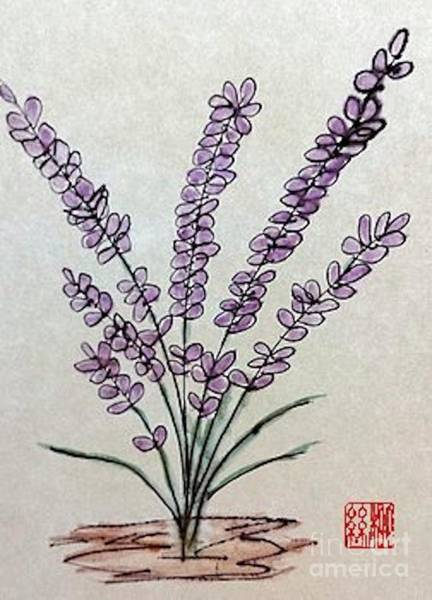 A Touch Of Lavender Art Print