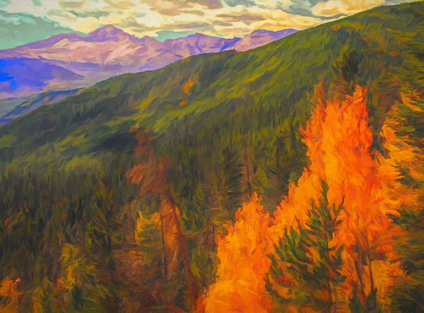 Painting - A Touch Of Autumn In Rocky Mountain National Park by Dan Sproul