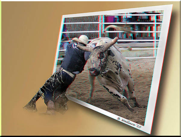 Anaglyph Photograph - A Tough Sport - Use Red-cyan 3d Glasses by Brian Wallace