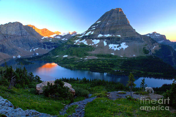Photograph - A Toush Of Sunset In Hidden Lake by Adam Jewell