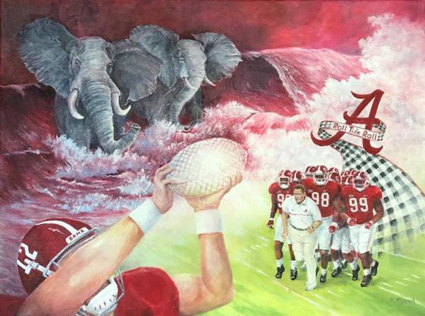 Alabama Painting - Roll Tide Legacy by ML McCormick