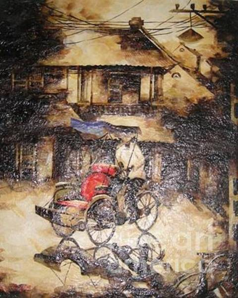Wall Art - Painting - A Traditonal Conner Of Ha Noi by Le Dac Trung