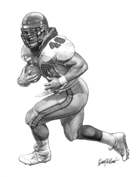Nfl Drawing - A-train by Harry West