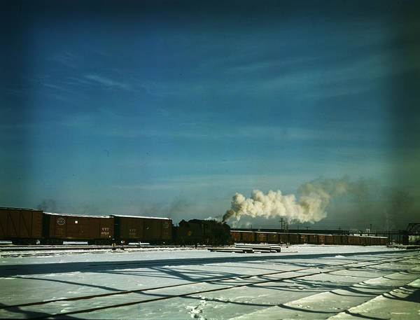 Painting - A Train Pulling Out Of The Freight House by Artistic Panda