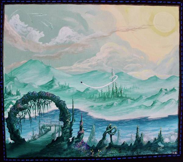 Star Formation Painting - A Travelers Tome by Mandy Elliott