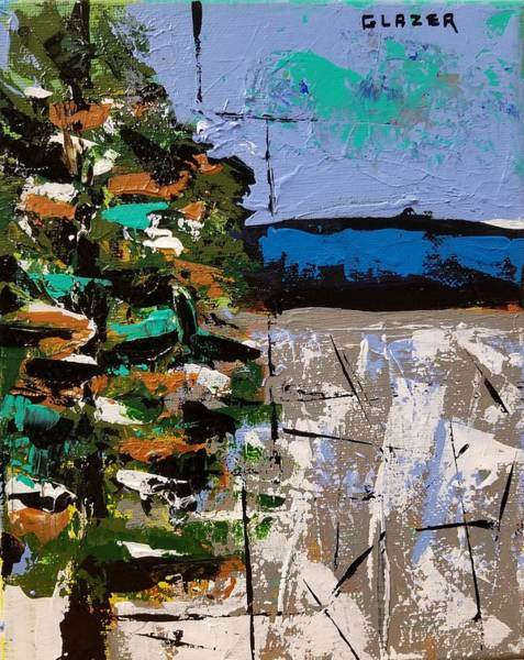 Wall Art - Painting - A Tree In The Meadow by Stuart Glazer
