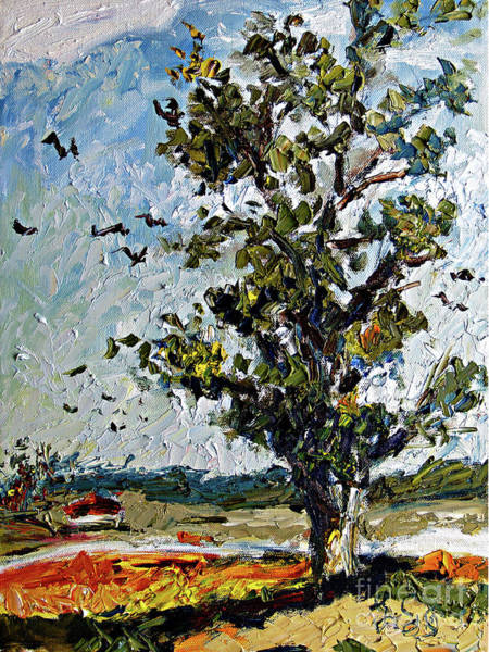 Painting - A Tree On My Way by Ginette Callaway