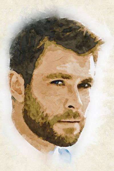 Celebrity Digital Art - A Tribute To Chris Hemsworth by Dusan Naumovski
