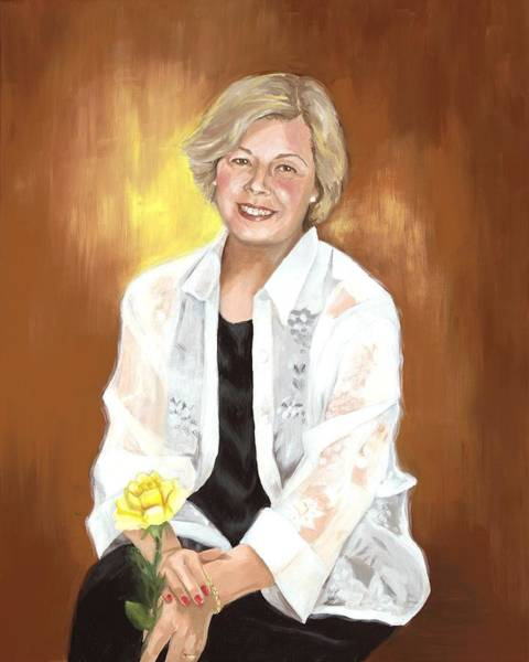 Wall Art - Painting - A Tribute To Sharon by Judy Swerlick