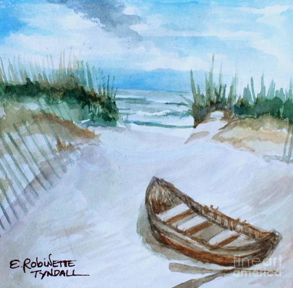 Painting - A Trip To The Beach by Elizabeth Robinette Tyndall