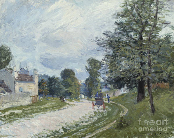 Turning Painting - A Turn In The Road by Alfred Sisley