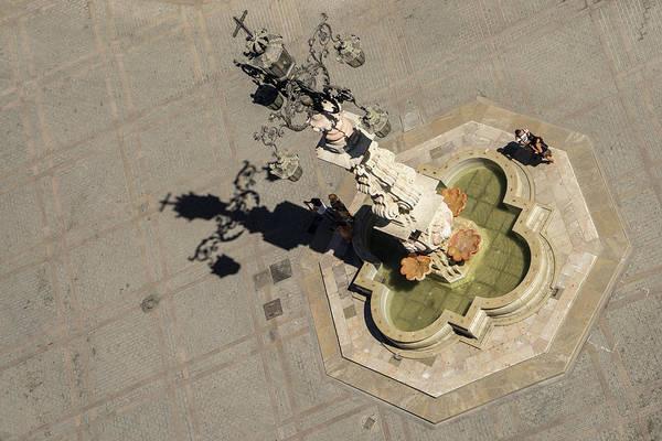 Photograph - A Unique Perspective Of Fuente De La Plaza Virgen De Los Reyes Seville Spain by Georgia Mizuleva