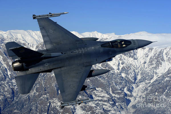 Falcons Photograph - A U.s. Air Force F-16 Fighting Falcon by Stocktrek Images