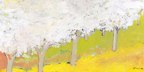 Fruit Trees Wall Art - Painting - A Valley In Bloom by Jennifer Lommers