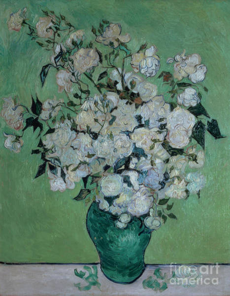 Wall Art - Painting - A Vase Of Roses by Vincent van Gogh