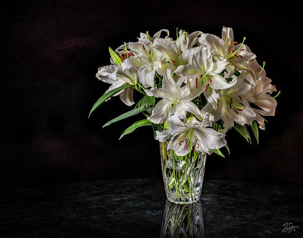Photograph - A Vase Of Stargazers by Endre Balogh