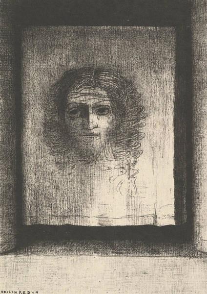 Relief - A Veil  by Odilon Redon