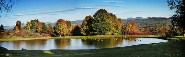 Photograph - Panorama Of A Vermont Pond In October by Yuri Lev