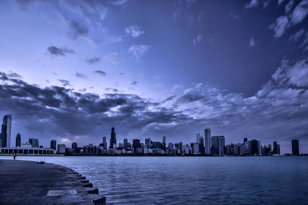 Photograph - A Very Blue Chicago Skyline by Sven Brogren