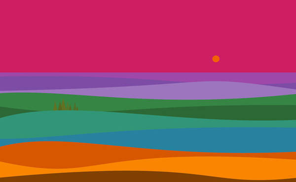 Digital Art - A Very Colorful Sunrise by Val Arie